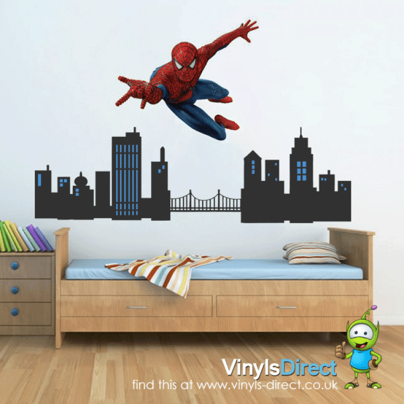 Spiderman Wall Decals Uk