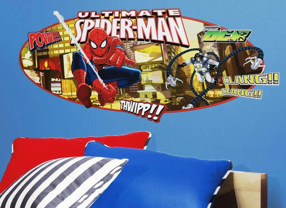 Spiderman Wall Decals Walmart