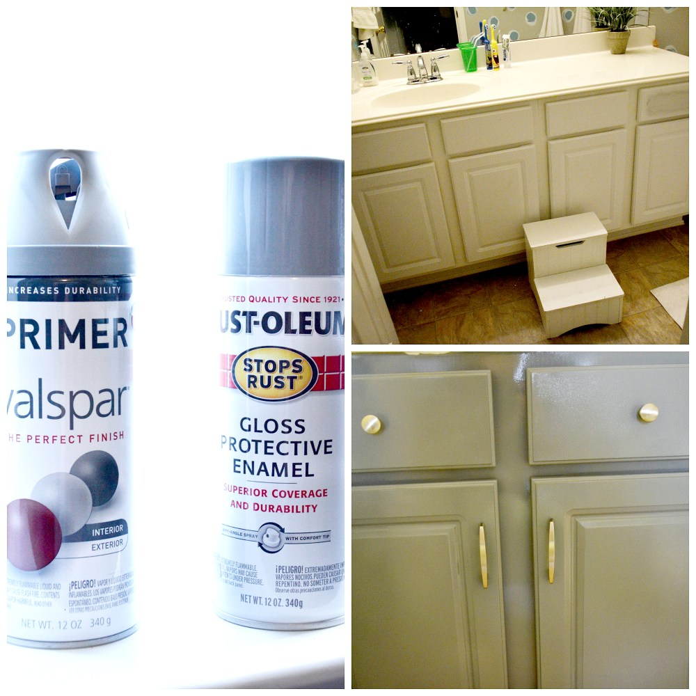 Spray Paint Bathroom Cabinets
