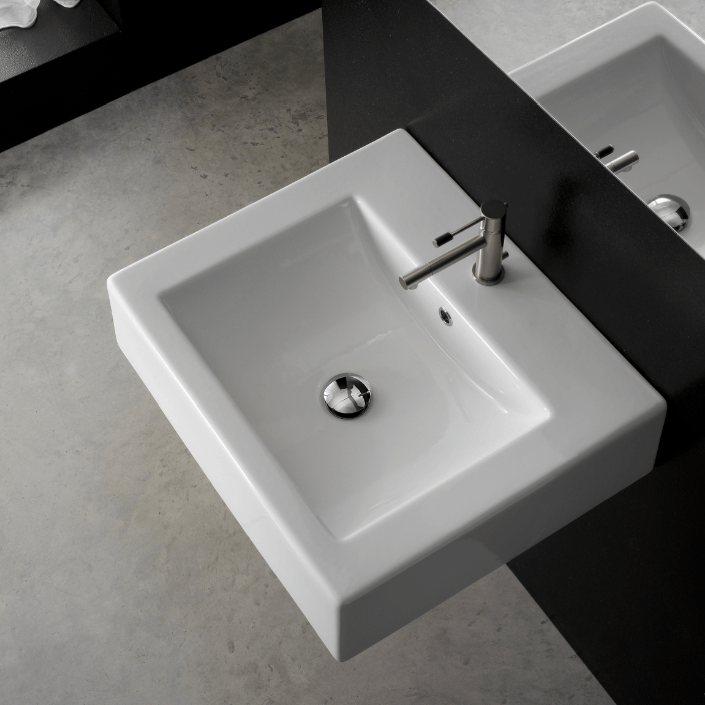 Square Bathroom Sink With Cabinet