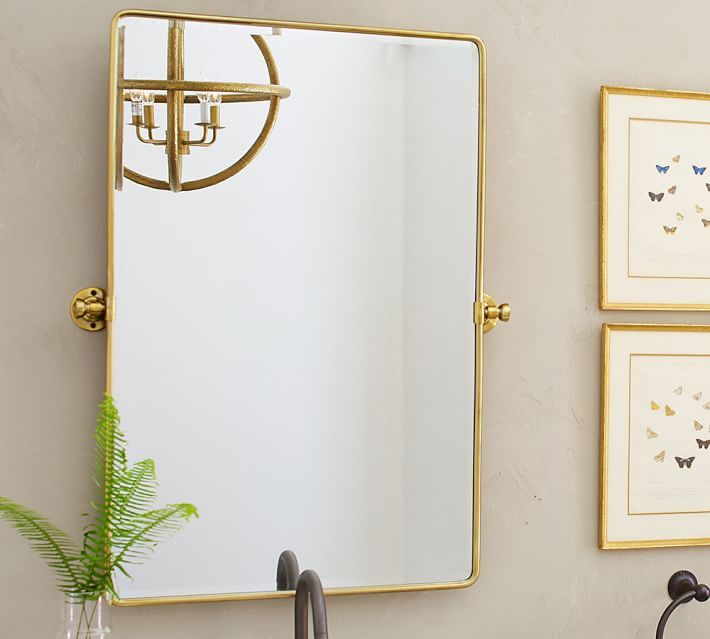 Square Pivot Bathroom Mirror