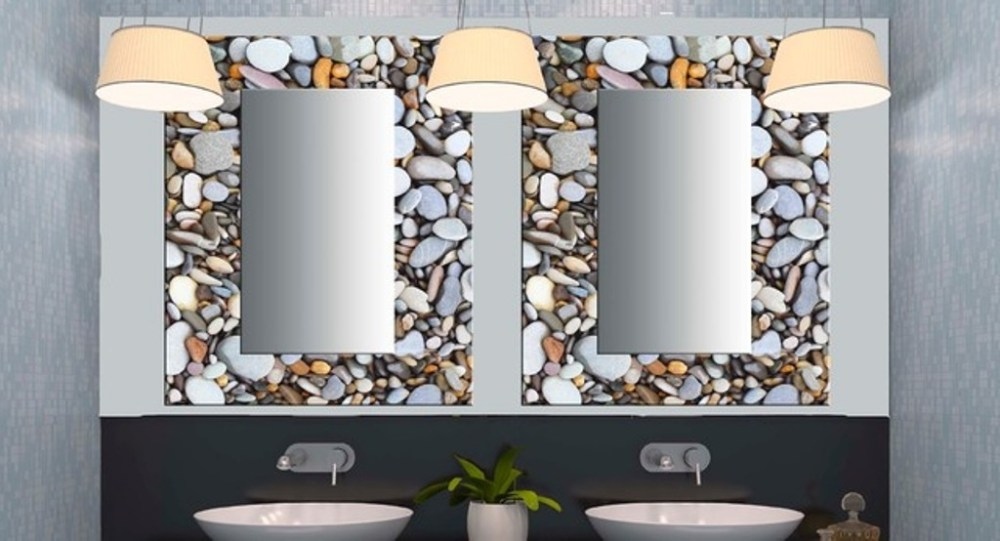 Stone Framed Bathroom Mirrors