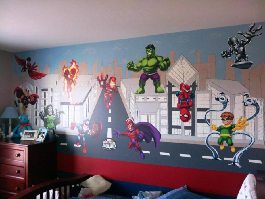Superheroes Wall Decals Large