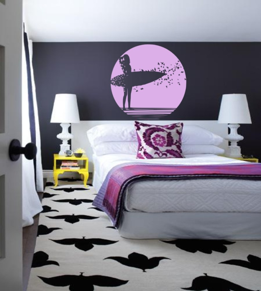 Surfer Girl Wall Decals