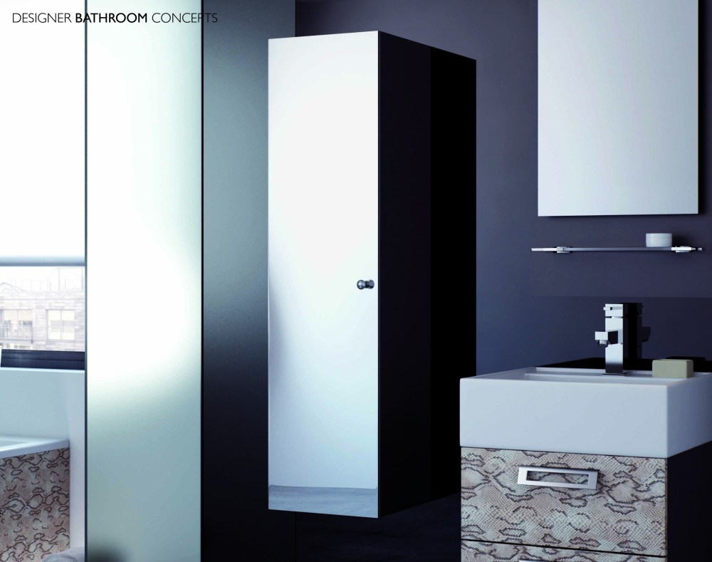 Tall Mirrored Bathroom Cabinet