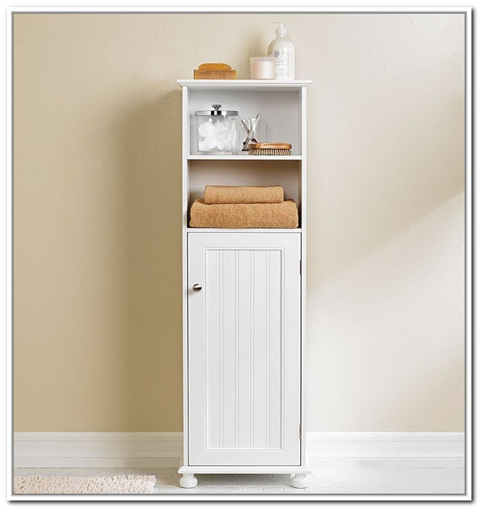 Tall Narrow Bathroom Storage Cabinet
