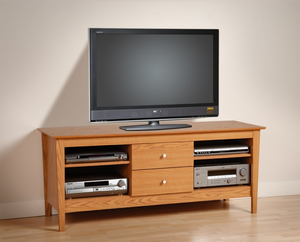 Tall Oak Tv Stand