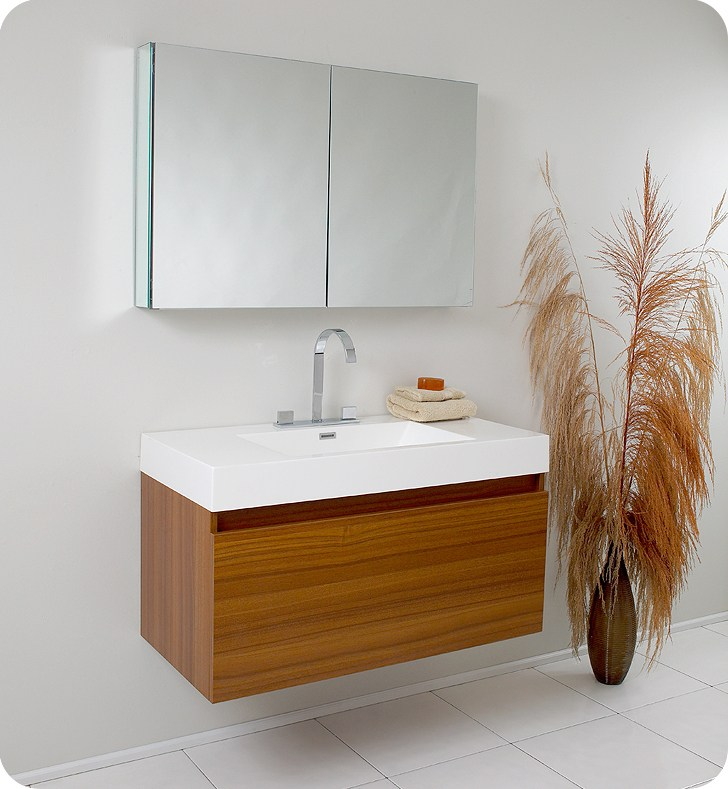 Teak Bathroom Cabinet Storage