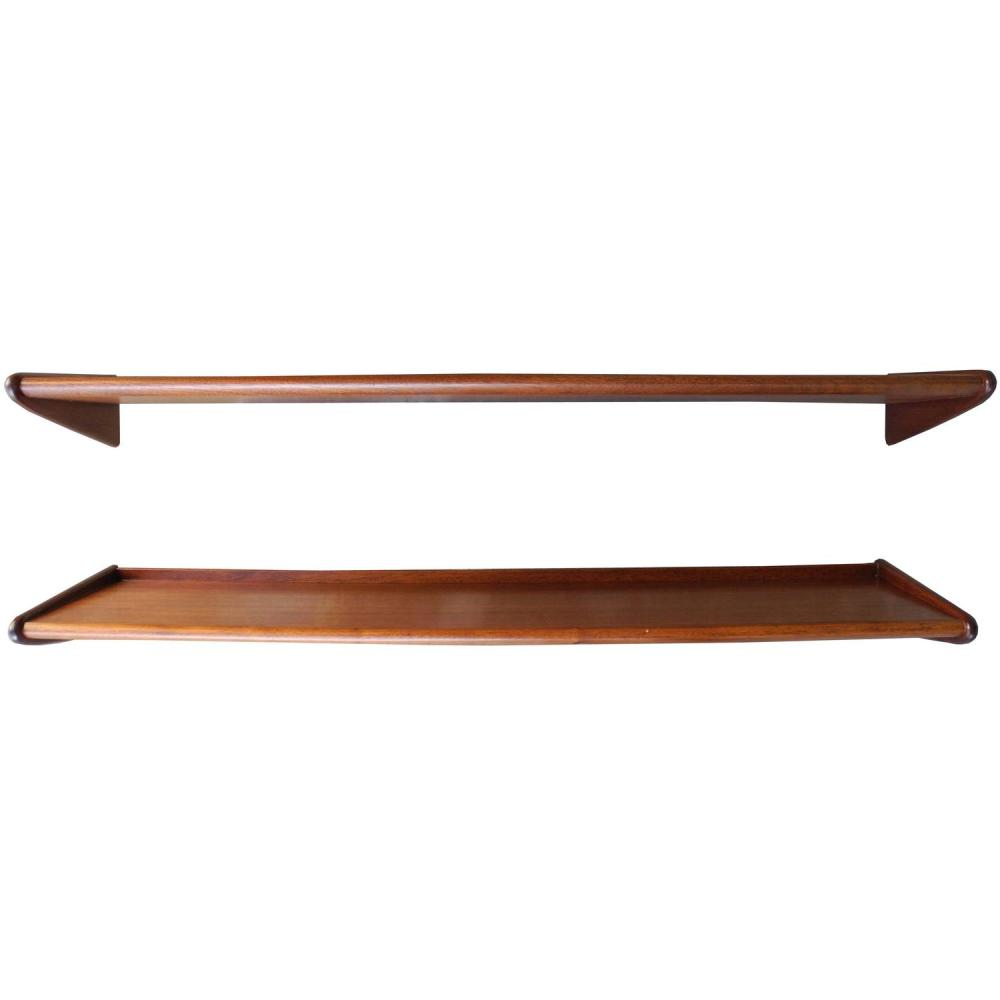 Teak Floating Shelves