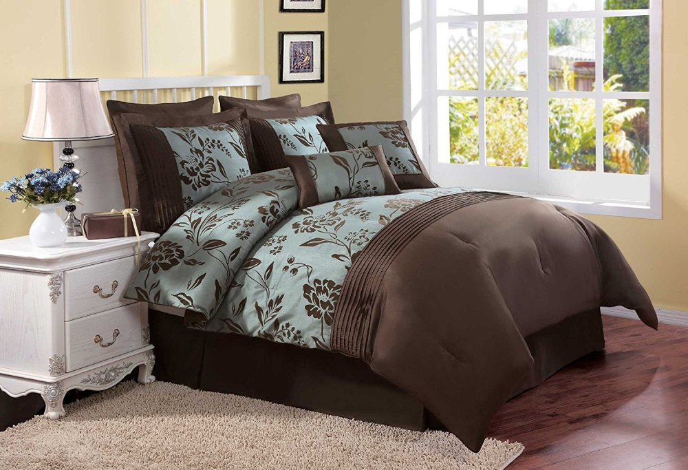 Teal And Brown Comforter Sets