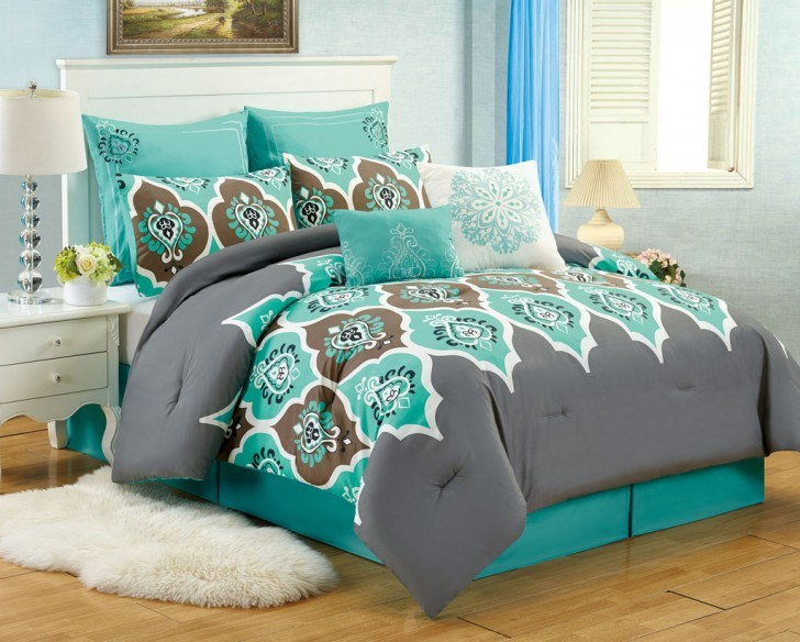 Teal And Gray Comforter Sets