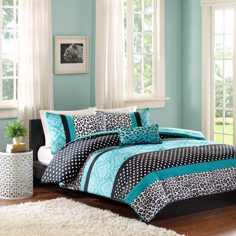 Teal And Yellow Comforter Sets