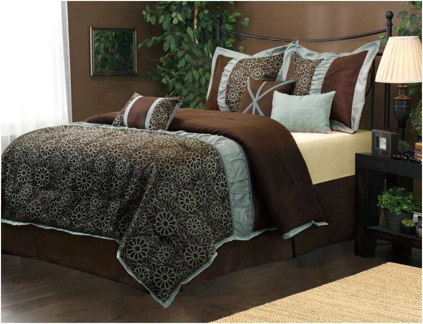 Teal Blue And Brown Comforter Sets