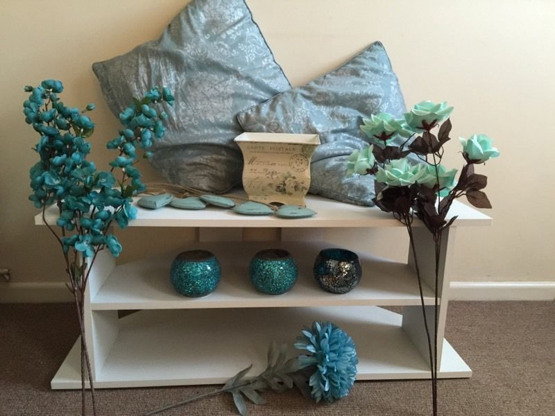 Teal Blue Tv Stand