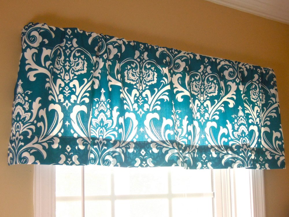 Teal Blue Window Valance