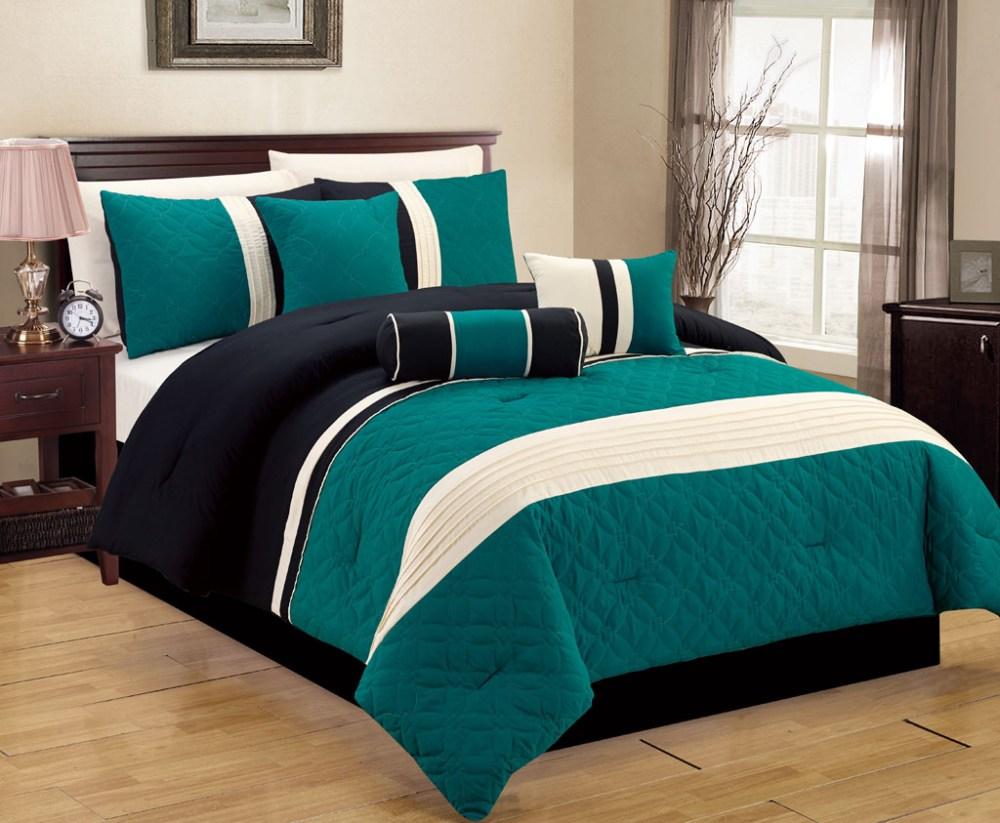 Teal Comforter Set Full