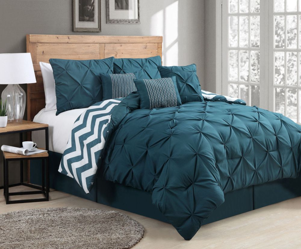 Teal Comforter Set Queen