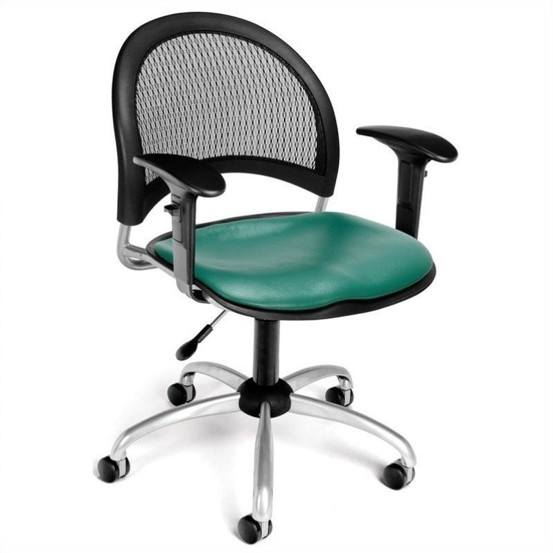 Teal Office Chair With Arms
