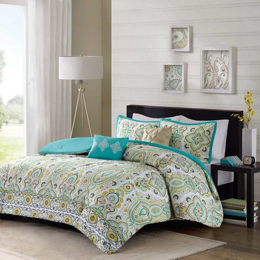 Teal Queen Comforter Set