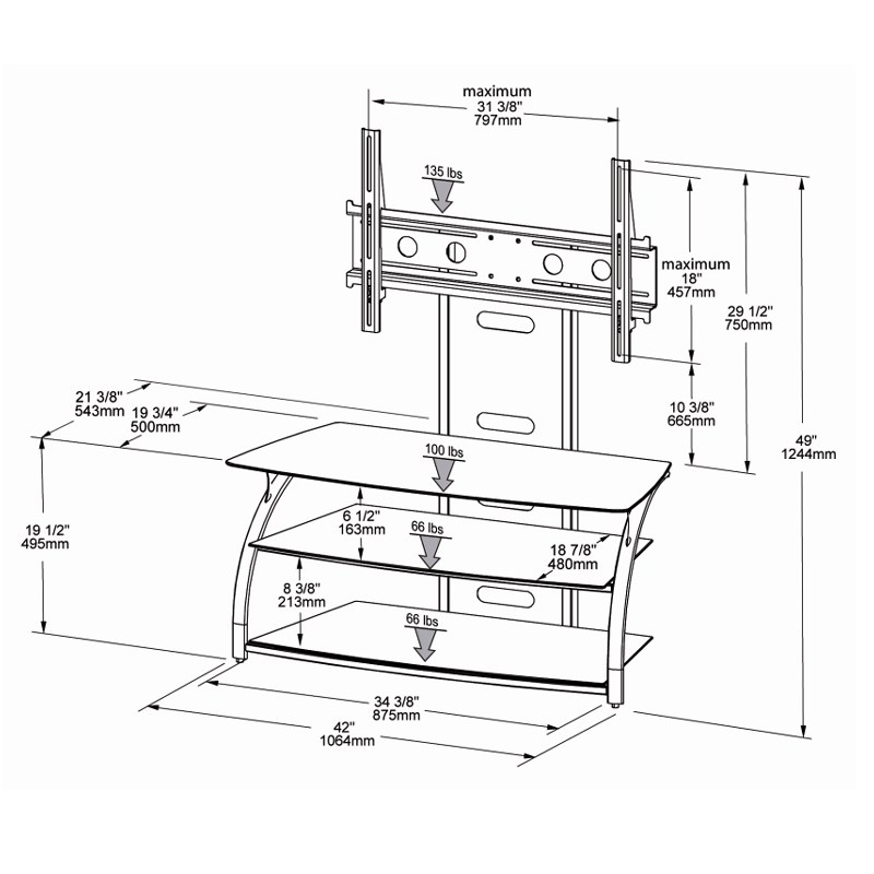 Tech Craft Tv Stand And Mount