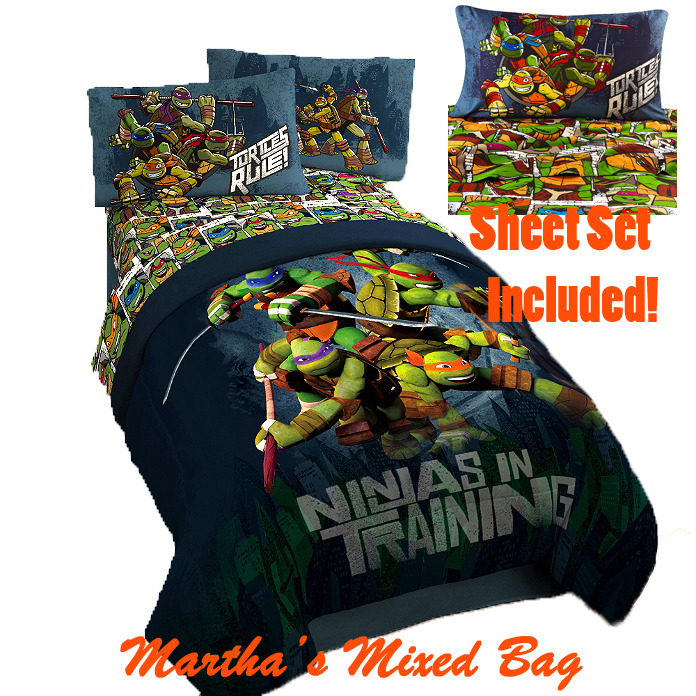 Teenage Mutant Ninja Turtles Comforter Set Twin