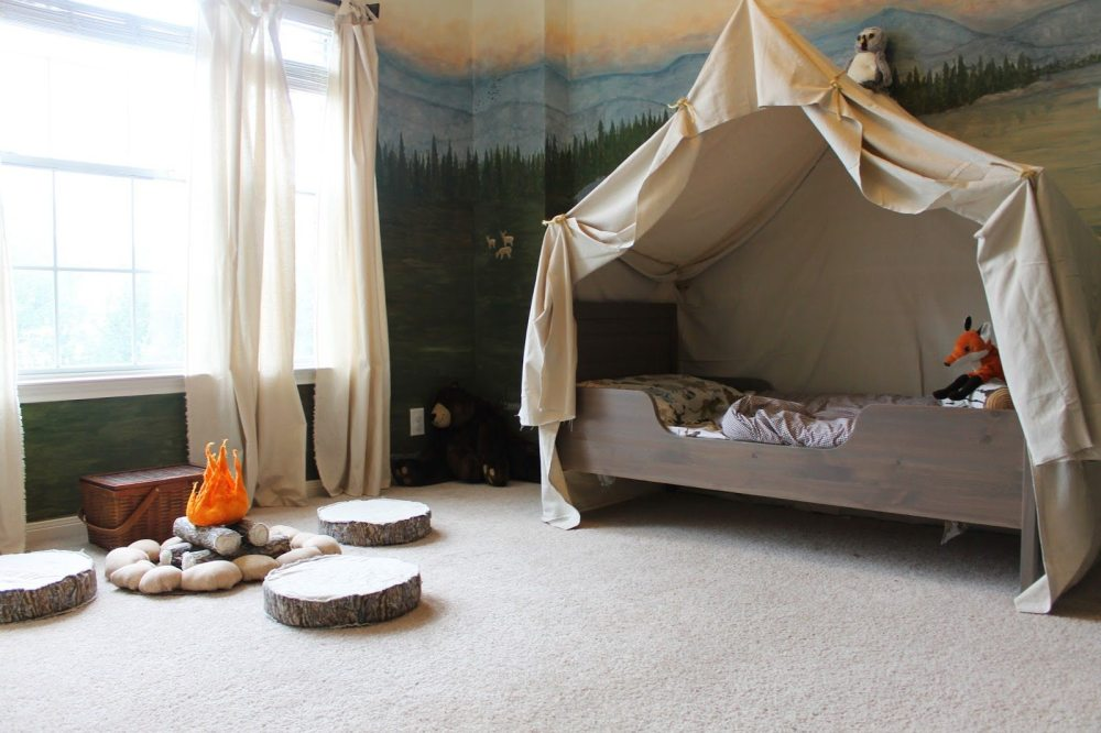 Tent Over Kids Bed