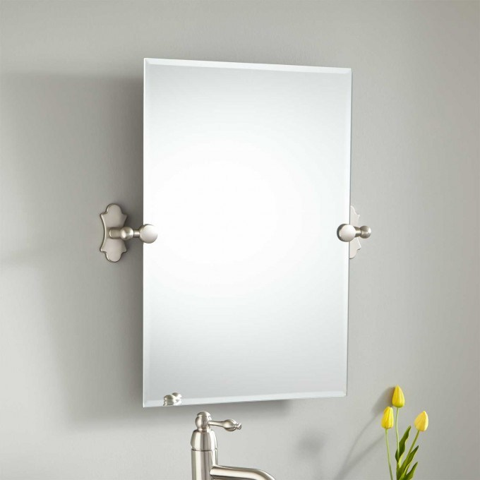 Tilting Bathroom Mirror Polished Nickel