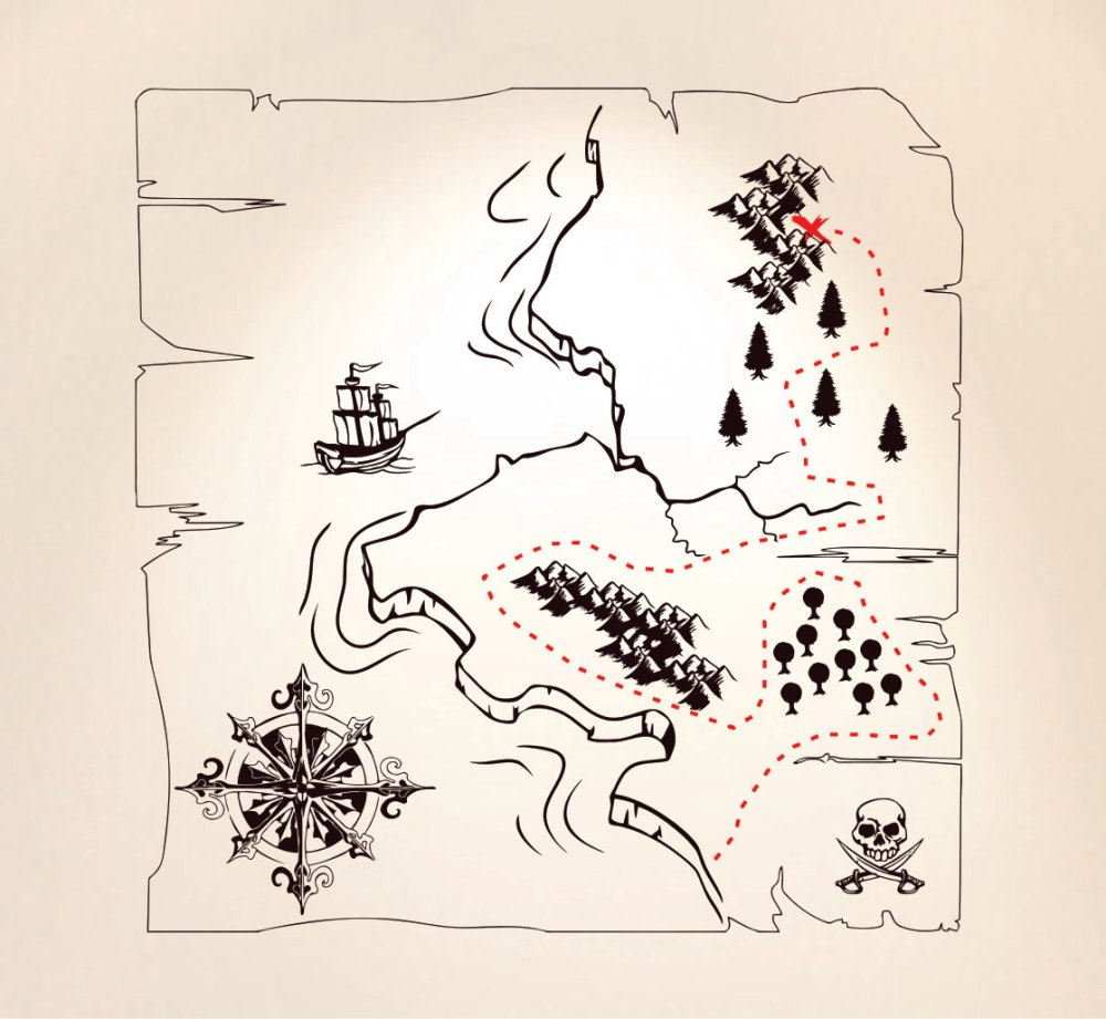Treasure Map Wall Decal