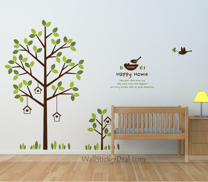 Tree And Bird Wall Decals