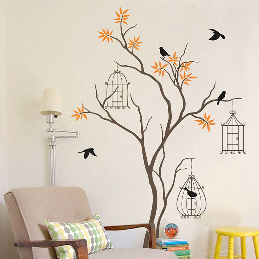 Tree And Birds Wall Decal