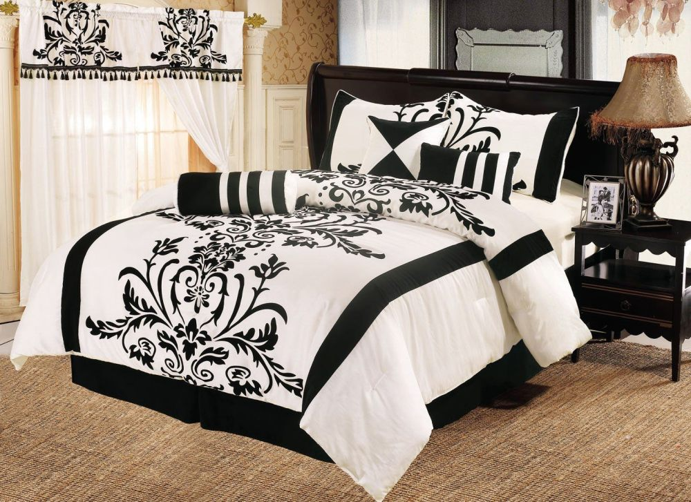 Tree Comforter Sets Black And White