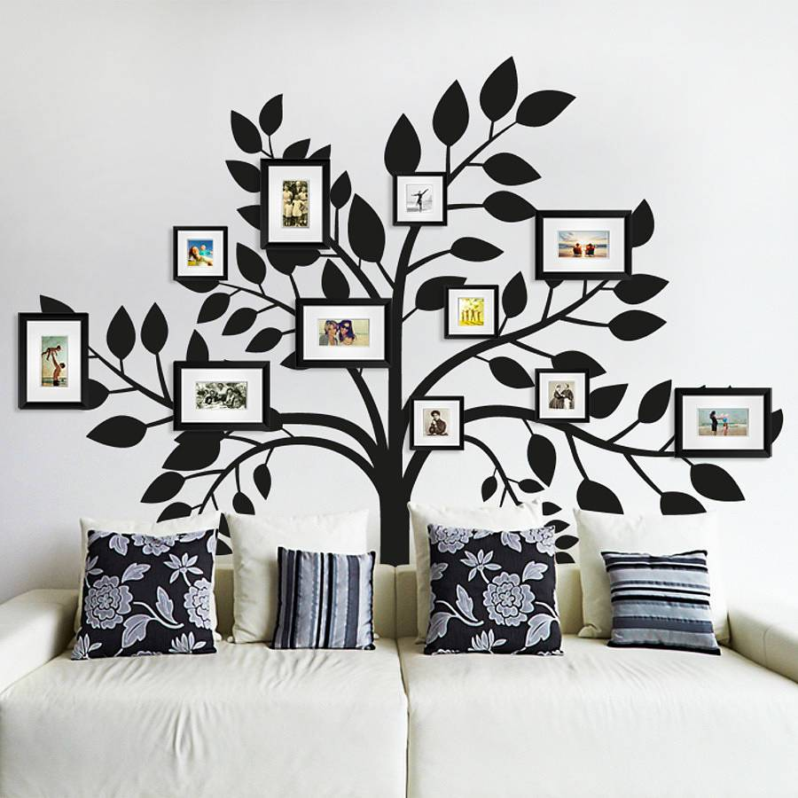 Tree Wall Decals With Picture Frames