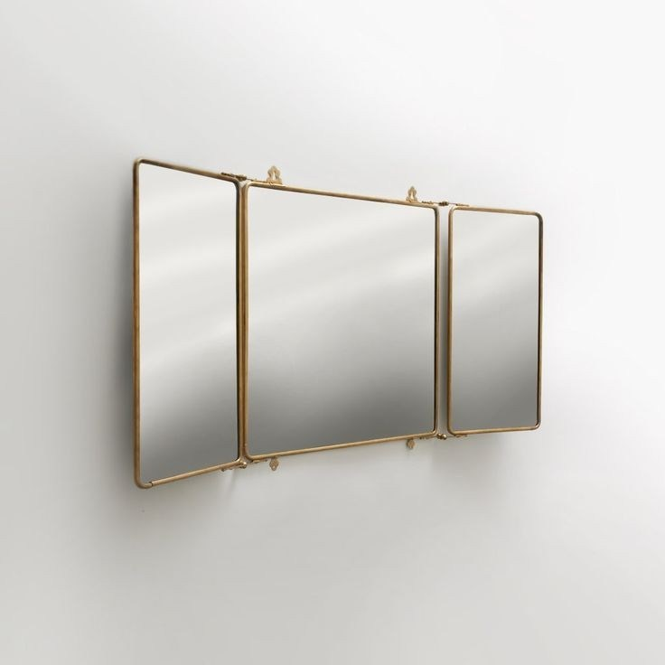 Tri Fold Bathroom Wall Mirror