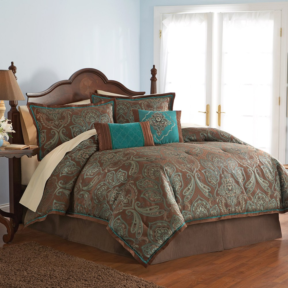 Turquoise And Brown Comforter Set