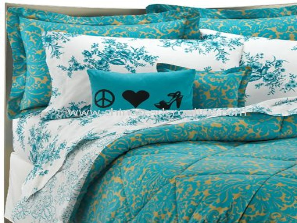 Turquoise And Gold Comforter Set