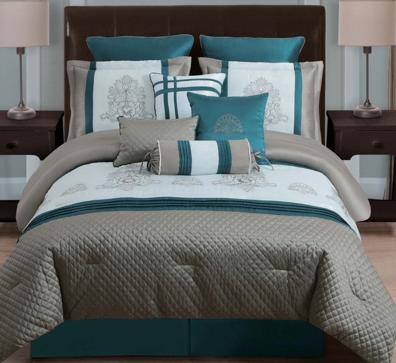 Turquoise And Gray Comforter Sets