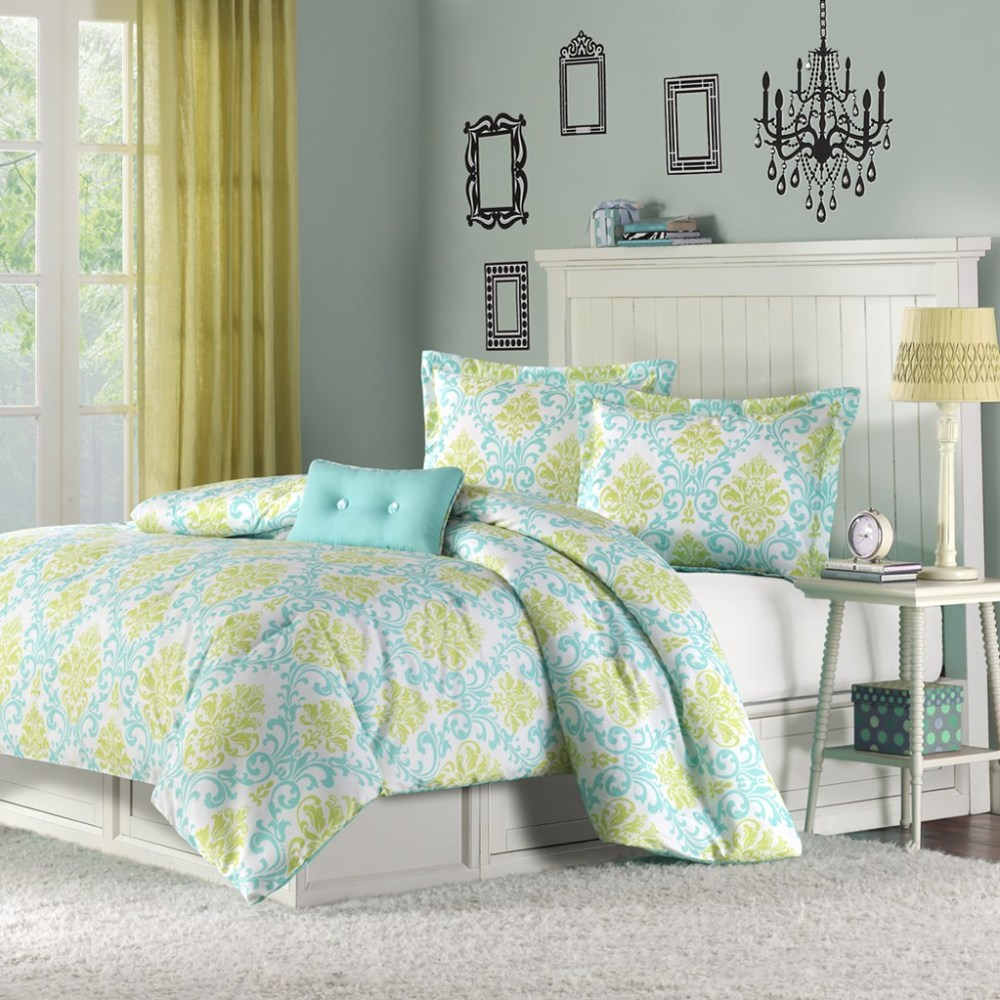Turquoise And Green Comforter Sets