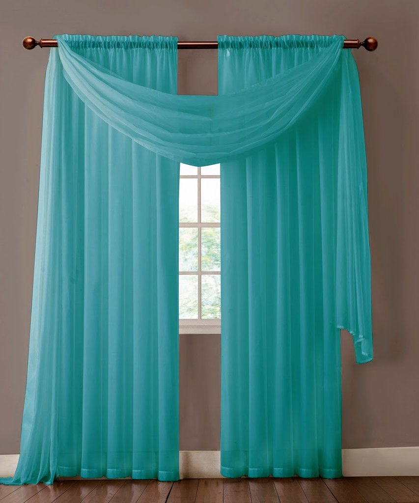 Turquoise Valance Curtains