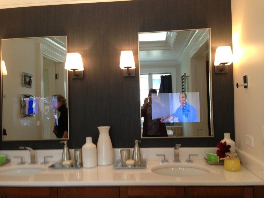 Tv In Bathroom Mirror Cost