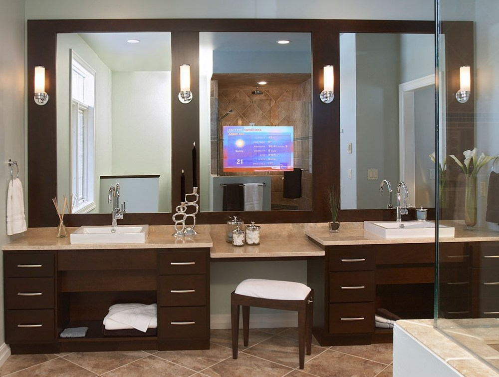 Tv In Mirror Bathroom Diy