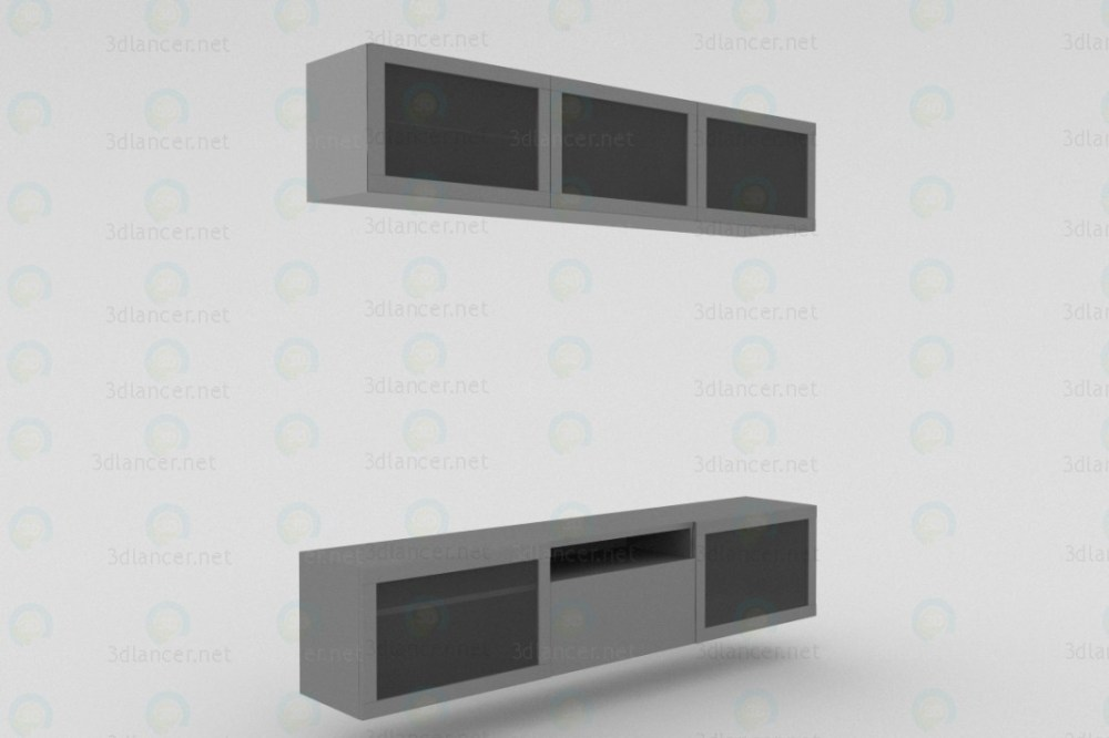 Tv Stand 3d Model Free Download