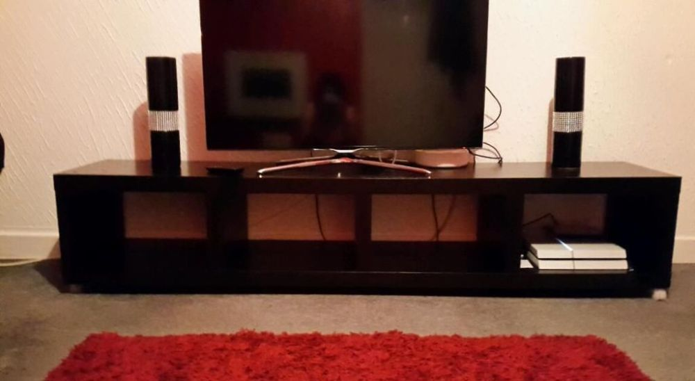 Tv Stand Black Brown