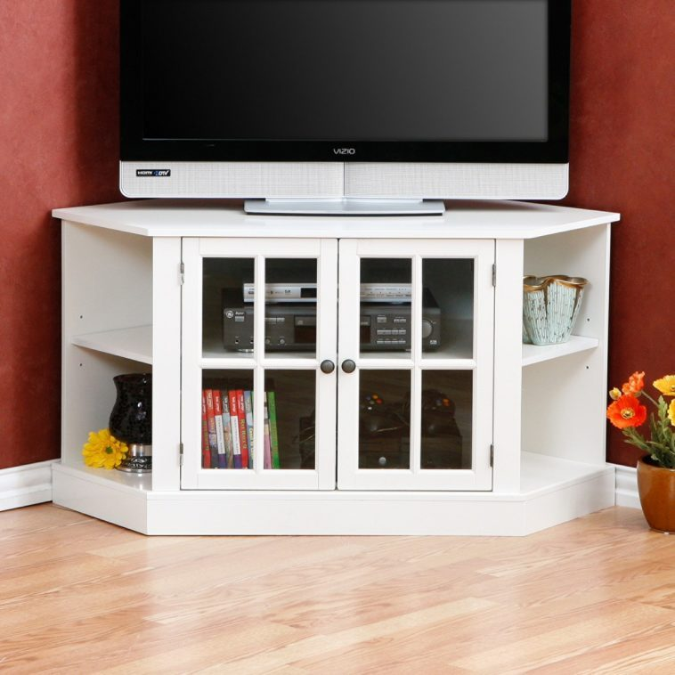 Tv Stand Corner Unit White