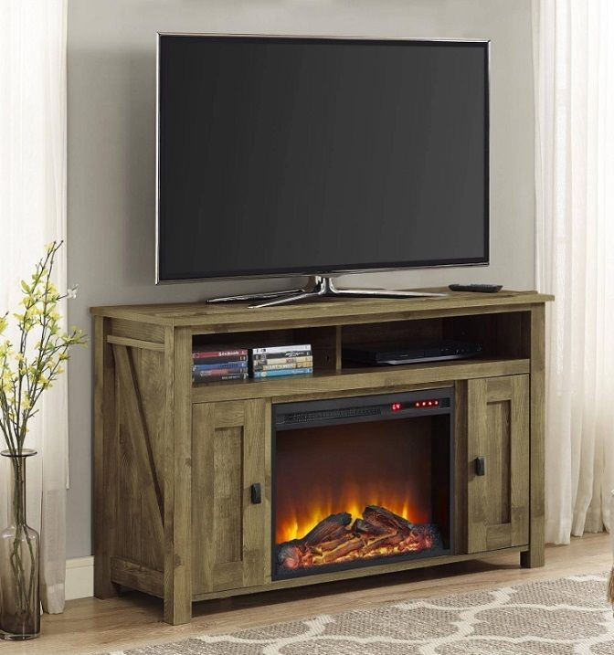 Tv Stand Entertainment Center Electric Fireplace