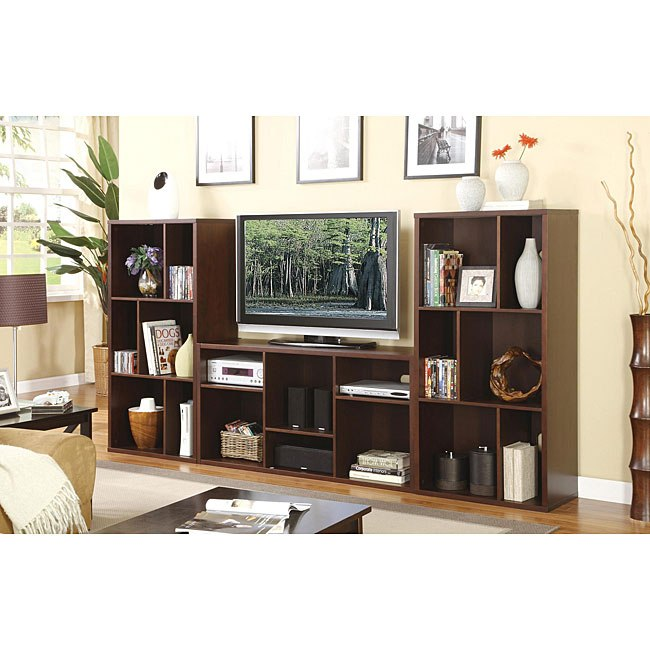 Tv Stand Entertainment Console With Shelves