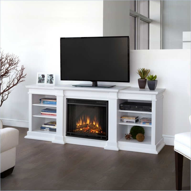 Tv Stand Fireplace White