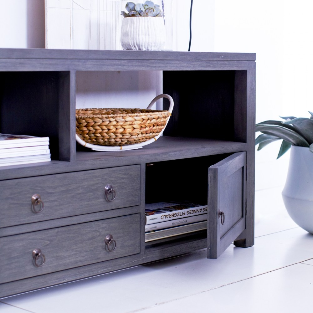 Tv Stand Grey Wood