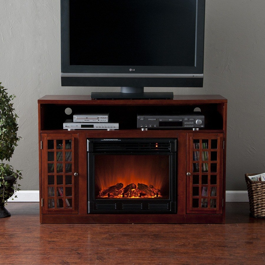 Tv Stand With A Fireplace