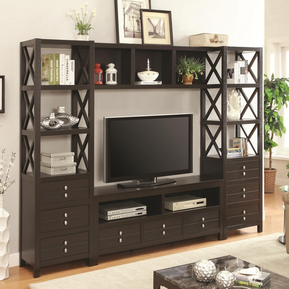 Tv Stand With Drawers And Shelves