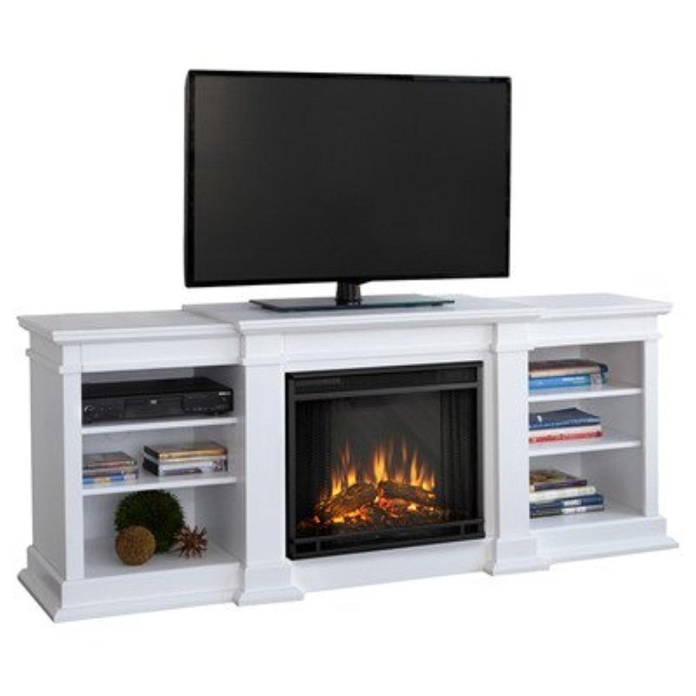 Tv Stand With Electric Fireplace White
